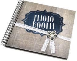 burlap photo album photo booth album etsy
