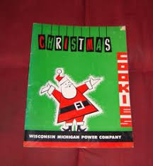 vintage christmas cooky book wisconsin electric by vintagepoetic
