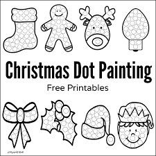 christmas dot painting free printables dot painting painting
