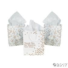 medium gold wedding dot gift bags