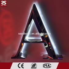 lettre en acier en plein air 3d en acier inoxydable métal lettre logo rétro