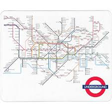 underground map underground map mouse mat transport museum shop