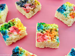 tie dyed rice krispie treats