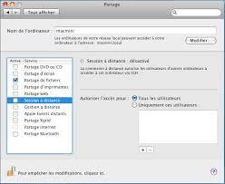 connexion bureau à distance pour mac réseau contrôle à distance mac os x aidewindows