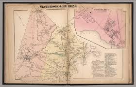 Maine Maps Westbrook And Deering Cumberland County Maine East Deering
