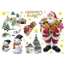 imagenes de santa claus feliz navidad extraíble adhesivos de pared el santa claus feliz navidad decalques