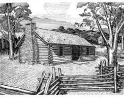 log cabin drawings log cabin montgomery bell state park pen and ink drawing