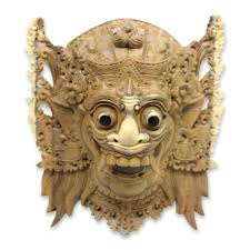 wall masks balinese hindu decorative wood wall mask from bali sang jogor