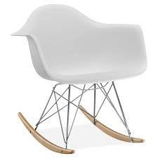 eames fiberglass shell rocking chair rocker herman miller hastac