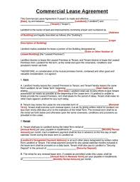 commercial lease agreement template incheonfair