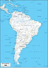 Blank Map Of Central And South America by South America Other Maps