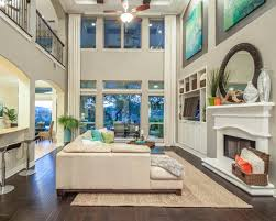 Decorating Ideas For Living Rooms With High Ceilings Open High Ceiling Family Room Theteenline Org
