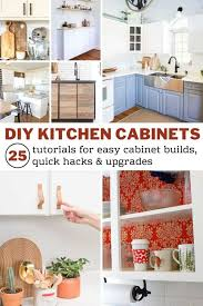 is it cheaper to build your own cabinets diy kitchen cabinets 25 cheap and easy ideas for an update