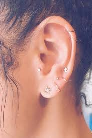 earring pierced constellation piercings are the new earring trend you need to get