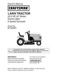 craftsman 917 273471 owner s manual