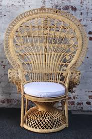 Wicker Armchair Outdoor Wicker Chair Furniture Modern Round Cuhsion White Rattan Chair