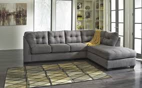 maier contemporary charcoal fabric sectional w raf chaise living