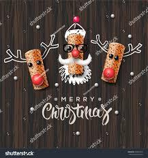 christmas characters santa claus reindeer made stock vector