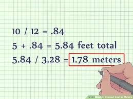 meter to square feet sq meter to feet conversion image titled convert meters to feet step