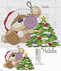 Cross Stitch Craze Fizzy Moon Bear Christmas Free Patterns