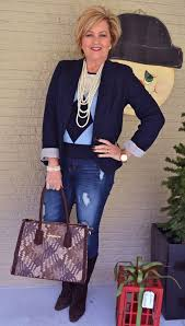 preppy for women over 50 preppy meets distressed distressed jeans woman and fashion