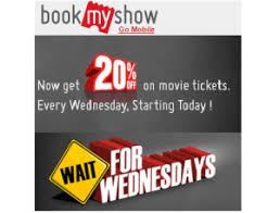 bookmyshow offer bookmyshow wait for wednesdays offer 20 off on movie tickets