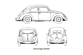 volkswagen drawing clipart volkswagen beetle year 1952