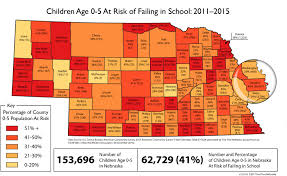 Ne Map U S Census 41 Of Nebraska U0027s Children Ages 0 5 Are At Risk