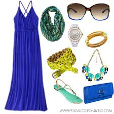 spring from target blue maxi with green and yellow