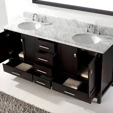 Virtu Bathroom Accessories by Virtu Usa Caroline Avenue 72 Bathroom Vanity Cabinet In Espresso