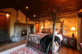 fireplace bedroom rustic master bedroom with exposed beam by high c home zillow
