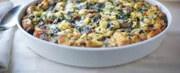 recipes simple spinach and sausage strata applegate