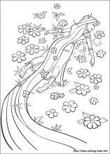 coloring page tangled color pages disney princess coloring page
