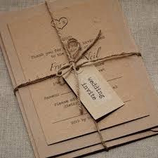 wedding invitation bundles rustic