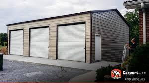 Two Car Garages by Metal Garage Two Car 18 U0027 X 21 U0027 X 9 U0027 Shop Metal Garages Online