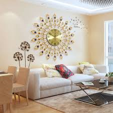 Living Room Clocks Living Room With Modern Golden Wall Clock Using A Clock For Wall