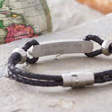 s day bracelet secret message personalised leather id bracelet by hurleyburley