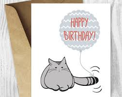 printable birthday cards treat yo self cat birthday