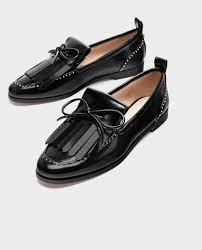 fringed moccasins with studs view all shoes woman zara united