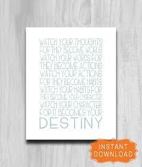 Anchor Print Inspirational Print Quot - watch your thoughts printable print inspirational quote istant