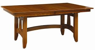 Wolf Hollow Mission Trestle Dining Table - Mission dining room table