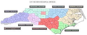 Raleigh Nc Map Nc Deq Underground Storage Tank Regional Offices