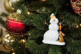 winter white snowman countdown to keepsake ornament