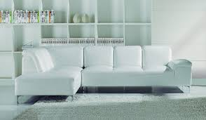 Santoro White Corner Leather Sofa Modern Italian Design Delux Deco - Corner leather sofas