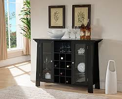 console table with wine storage black wood wine rack sideboard buffet display console table with