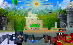 Super Mario World Map by Fanmade Desktop Wallpaper Of Various Level Designs From Super