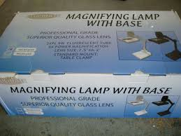 Lighted Magnifying Lamp Floor by Loupes And Magnifiers 34084 5x Desk Table With Base Magnifier