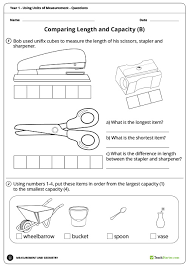 measuring units worksheet using units of measurement worksheets year 1 teaching resource