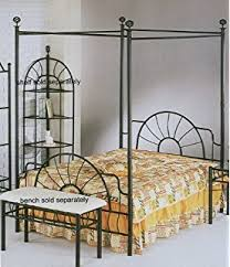 Wrought Iron Canopy Bed Amazon Com Wrought Iron Sunburst Canopy Queen Bed By Coaster