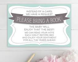 baby shower bring a book instead of a card poem bring a book baby shower invitation yourweek f570d8eca25e